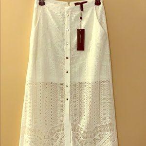 bcbg maxazria harper lace skirt